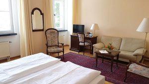 Doppelzimmer im Hotel Schloss Spyker auf der Insel Rügen