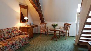 Maisonettzimmer im Hotel Schloss Spyker am Jasmunder Bodden auf Rügen