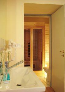 Sauna im Turmzimmer vom Hotel Schloss Spyker am Jasmunder Bodden auf Rügen
