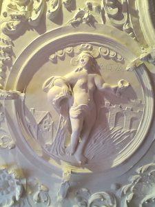 Stuckdecke Schloss Spyker - Vier Elemente - Wasser