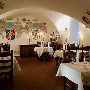 Restaurant Wrangel auf der Insel Rügen im Schloss Spyker
