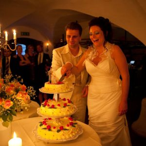 Hotel Schloss Spyker Rügen - Hochzeit - Hochzeitstorte -Gewölbekeller