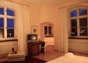Turmzimmer im Hotel Schloss Spyker am Jasmunder Bodden auf Rügen