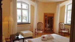 Doppelzimmer mit Sauna Hotel Schloss Spyker Rügen